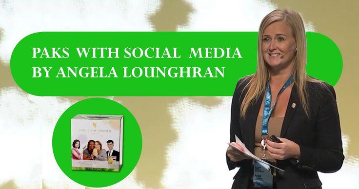 Angela Loughran Ange Social Media & Paks from Forever Living