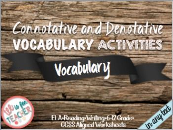 This vocabulary activity focuses on teaching students the difference between connotative and denotative meaning using the same word.Here are some suggestions to teach the lesson:Mini-Lesson: Use the exemplars (the Heart connotative and denotative graphic organizers to explicitly model your expectations for the activity.Independent Activity: Ask students to use the dictionary or the internet to the complete the connotative and denotative graphic organizer activityEnrichment/ Enhancement: Ask…