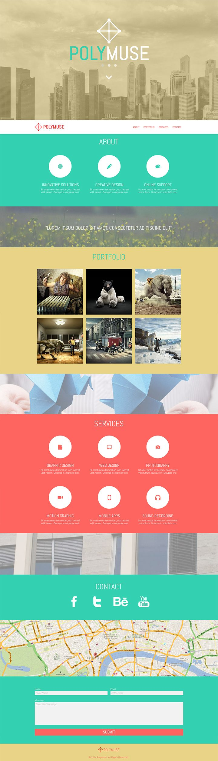 Polymuse - One Page Parallax Muse Template by PixelladyArt