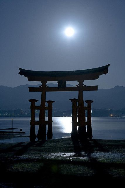 Beautiful Moon, Itsukusima-Shrine, Hiroshima, Japan, by Araki, on Flickr