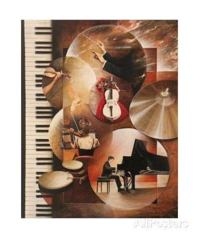 Concerto Pour Piano Fotografie-Druck