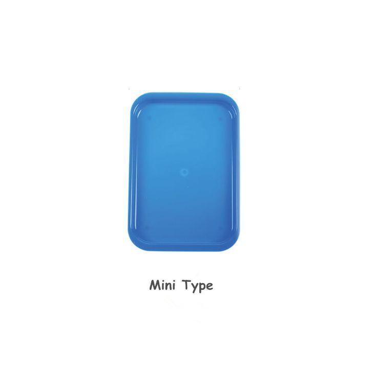 10 Pcs Dental Instrument autoclavable plastic trays Mini falt Blue #HealthySmile