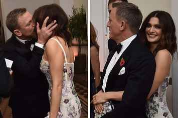 "Daniel Craig And His Bond Girl Rachel Weisz Were So Loved-Up At The ""Spectre"" Premiere"