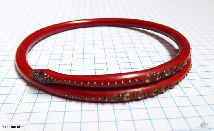 Art Deco 1920's celluloid snake bangle bracelet