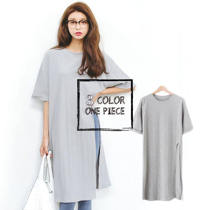 3色・オーバーサイズ・スリット入りロングチュニック・ワンピース・ドロップショルダー・フリーサイズ・F・ホワイト・ブラック・グレー・大人可愛い・レディースカジュアル・デート・女子会・お出かけ・デイリー【170525】#JSファッション #カジュアル #大人可愛い #夏 #シンプル #ロングチュニック #ワンピース #五分袖 #オーバーサイズ #ゆったりめ #ホワイト #グレー #クルーネック #ブラック #スリット入り #フリーサイズ #大人フェミニン #爽やか #かわいい #大人コーデ #個性的 #デート #トレンド #流行り #お出かけ #デイリー #通勤 #通学 #シンプルコーデ #海外 #通販