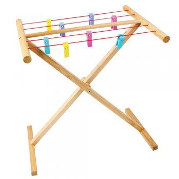 Play Wooden Clothes Line - from Early Years Resources UK