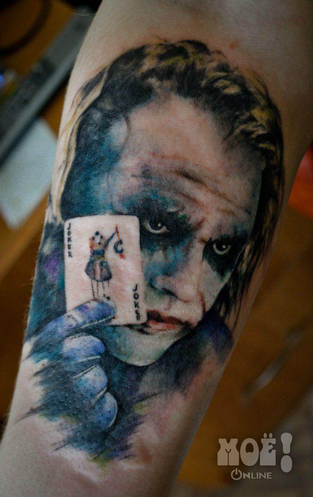 """Хит Леджер. Работы воронежских тату-мастеров в жанре """"портрет"""" / Works of Voronezh tattoo artists in the portrait genre"""
