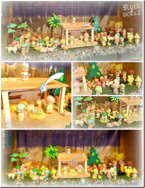 80s Pin y Pon dolls miniature Nativity Scene  - from my blog http://rock-n-dollz.blogspot.com.es    #pinypon #doll #nativity #christmas #xmas