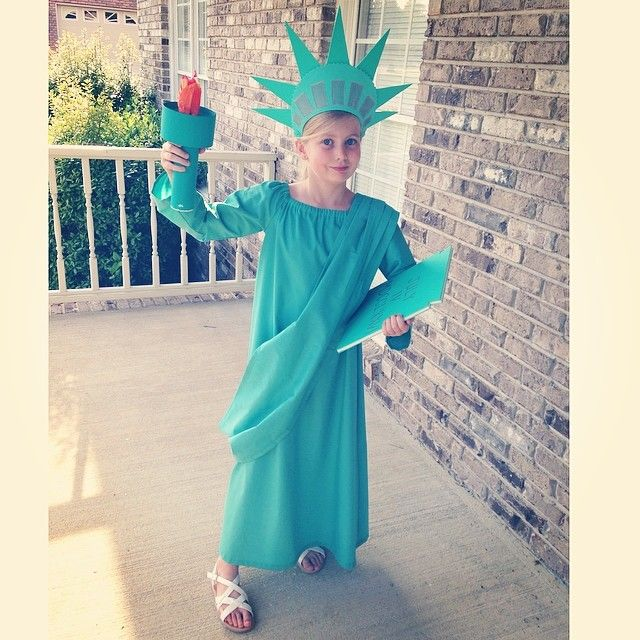 DIY Statue of LIberty Costume
