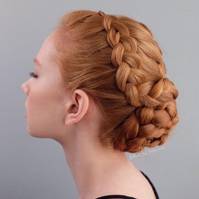 Dutch braids into braid bun.  #hairbypelerossi  #frenchbraid #dutchbraid #braidedupdo #bridalinspiration #weddinginspiration #bridalhair #weddinghair #dancerhair #ballethair #nashvillehairstylist #nashvillebridalhairstylist