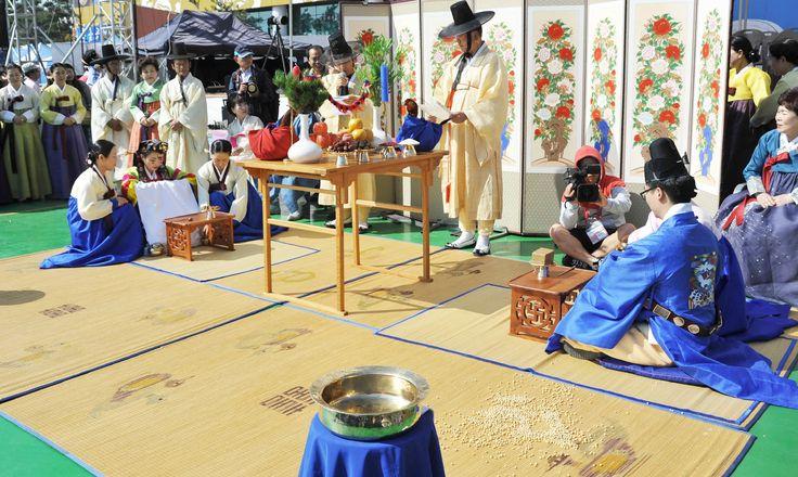 탈춤축제장_경연무대_전통혼례식(2014. 10. 3.)