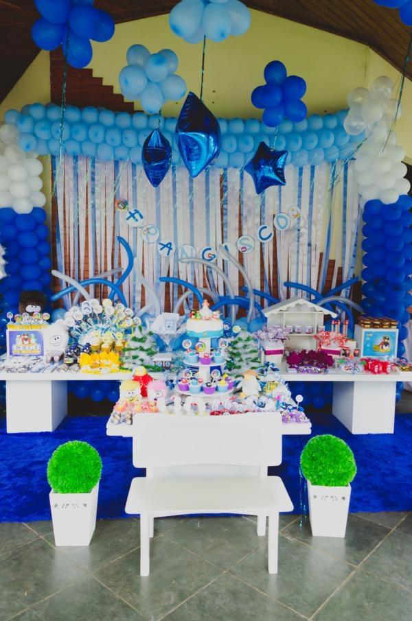 disneys club penguin birthday party theme blue boy girl kids