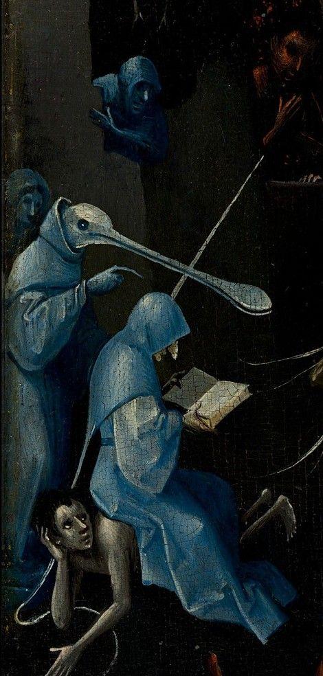 """Le Jardin des délices - Jérôme Bosch (détail du panneau """"Enfer"""")"""