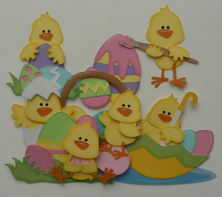 Easter Chicks (Scrapbook Paper Piecings)