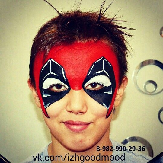 Faceart deadpool дедпул аквагрим