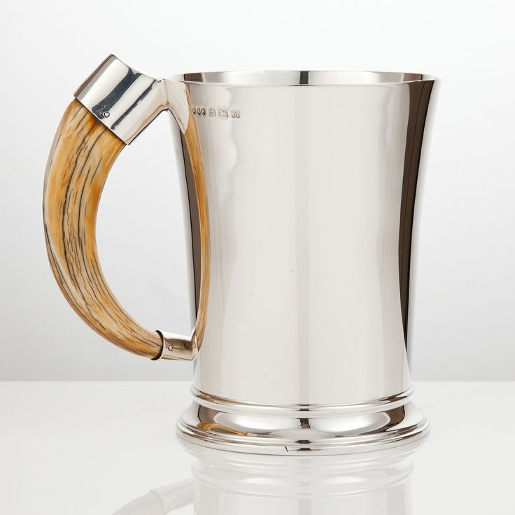 Silver tankards, from antique examples dating back to the late C17th right up to the contemporary. silvervaultslondon.com