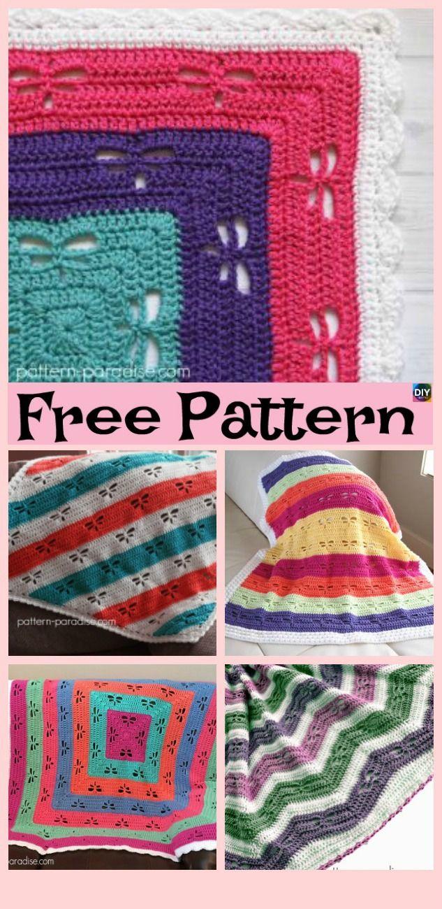 Crochet Dragonfly Stitch Blanket Free Patterns Crochet Knit