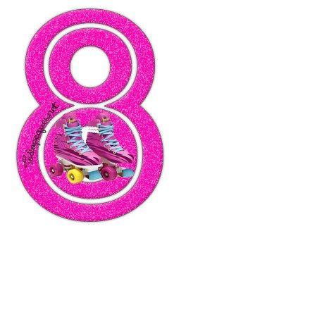 Estou números da lua - os números para imprimir Soy lua em agosto