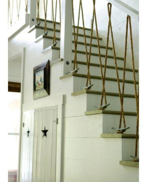 Seil Dekoration passt zu jedem Raum treppe geländer originell