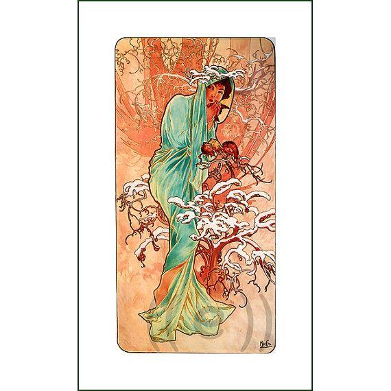 fabric panel - painting by Alphonse Mucha (10)
