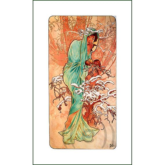 fabric panel - painting by Alphonse Mucha (10)