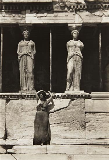 Isadora Duncan at the Parthenon, Athens, 1920, by Edward Steichen
