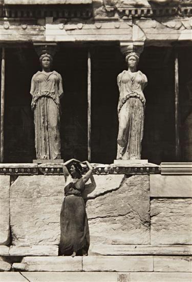 Isadora Duncan at the Parthenon, Athens, 1920, by Edward Steichen