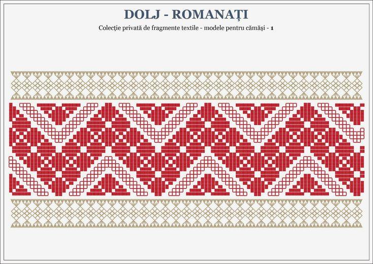 Semne Cusute: romanian traditional motifs (for shirts) - OLTENIA - 001