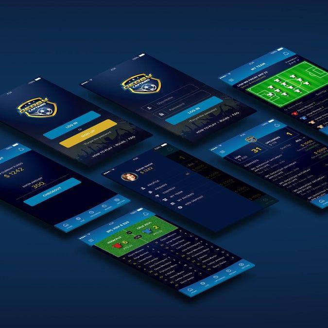 Fantasy soccer app design by Simply_Alison