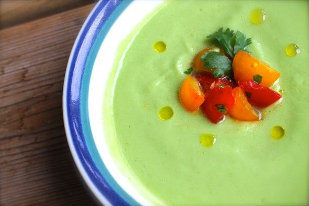 ... mango coconut soup with mango relish chilled mango and cucumber soup