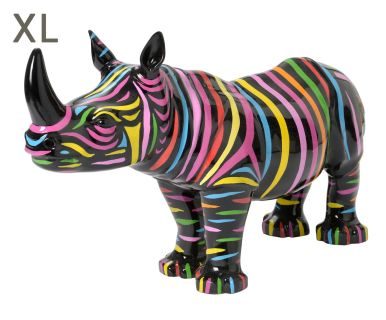 """Figurka dekoracyjna """"Stripped Rhino"""", 30 x 100 x 60 cm"""