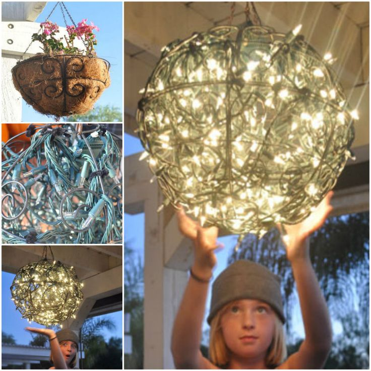 Glowing Garden Basket Chandelier