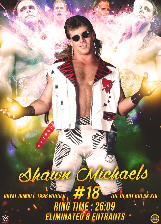 Shawn Michaels Royal Rumble 1996 Poster by Shivam by…
