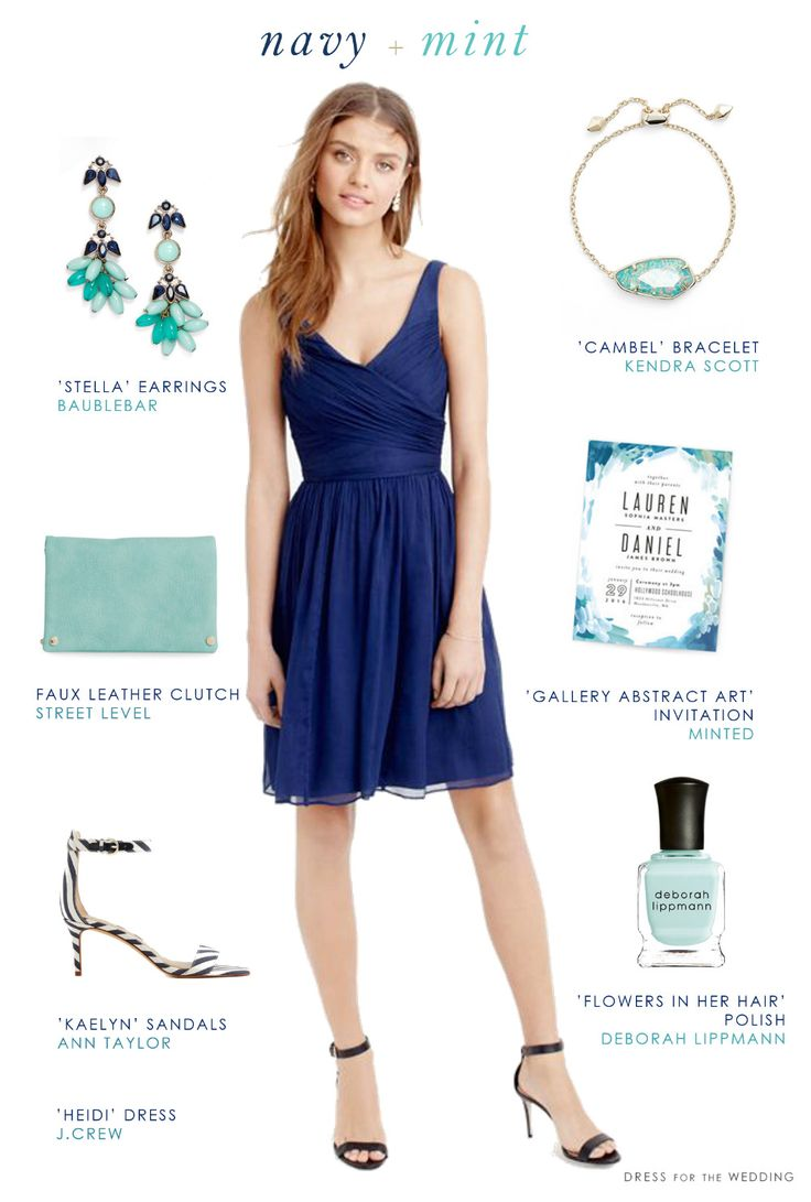 navy weddings navy dresses for weddings Navy Blue and Mint Green Wedding Style