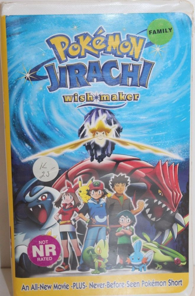 Nintendo Pokemon Jirachi Wish Maker 2004 Vhs Cassette Tape