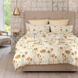 Cottonissima Magnolia v2 honey peach - lenjerie de pat din bumbac 2 persoane