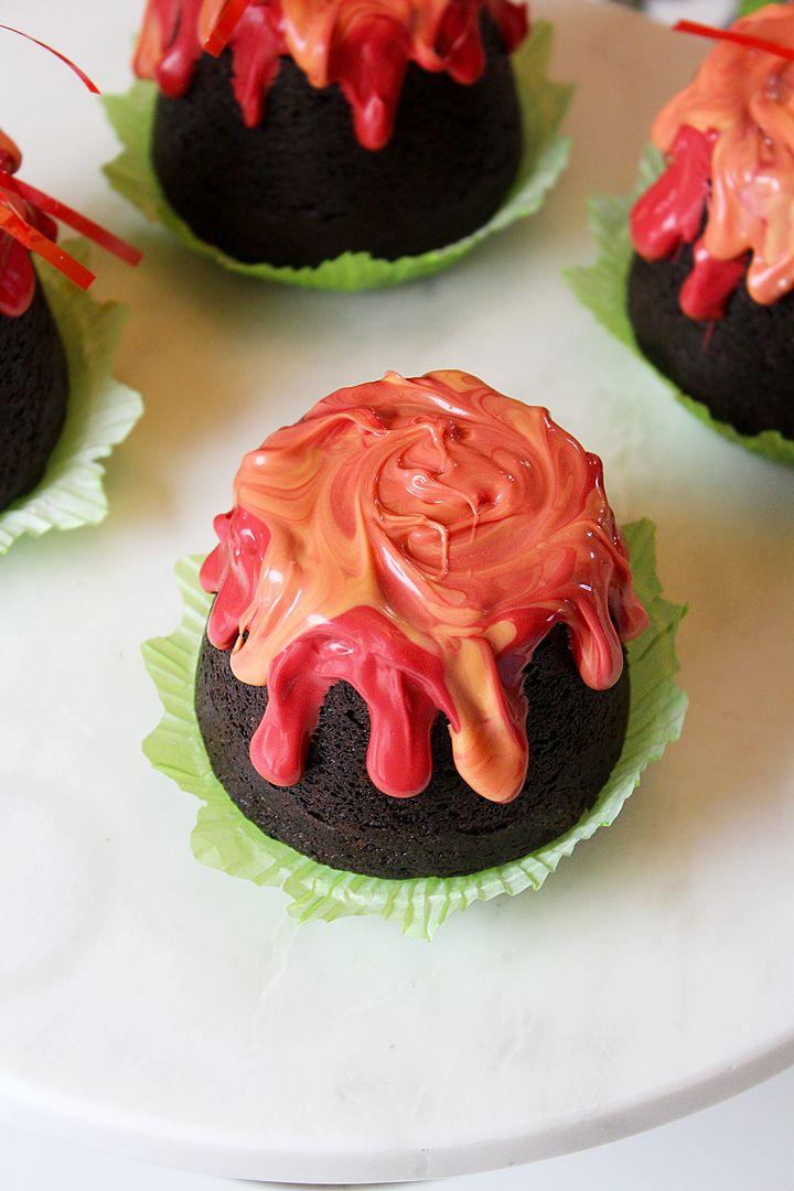 easy volcano cupcakes
