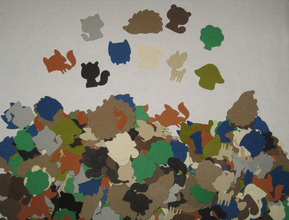 Woodland Animal Confetti  500 Pieces  READY TO by thepapercubby, $6.00500 Piece, Animal Confetti, Bday Ideas, 1St Birthday, Woodland Confetti, Woodland Animalconfetti, Animalconfetti 500, Birthday Ideas, Baby Shower