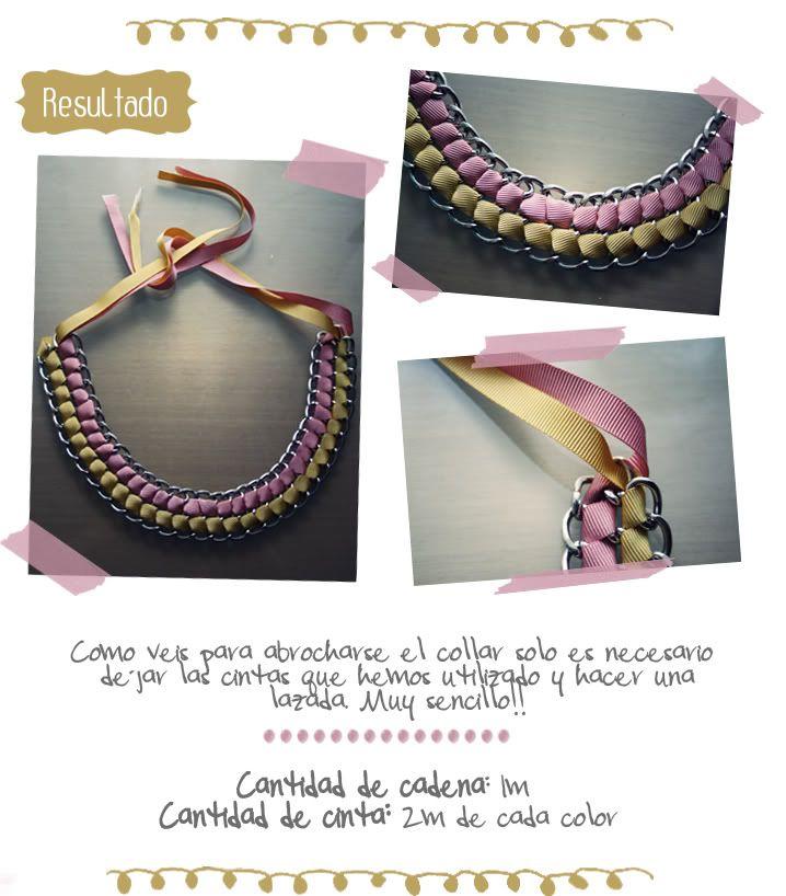 DIY: collar de cadena con cintas