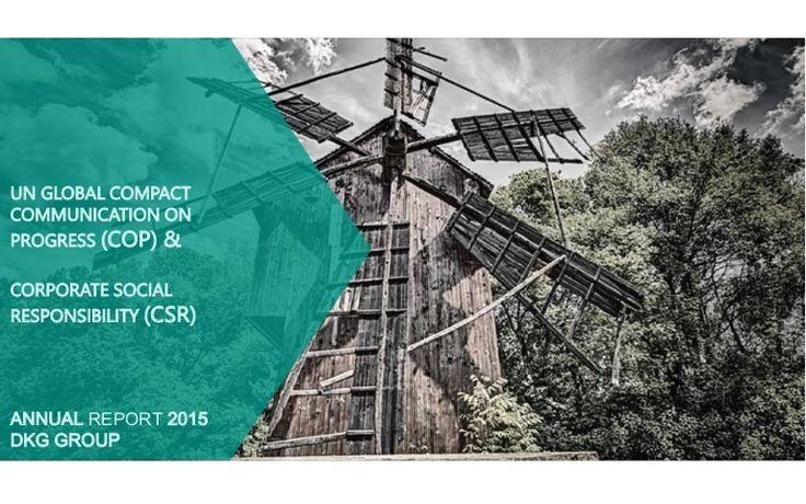 COP & CSR Report 2015 (pdf) - DKG Group