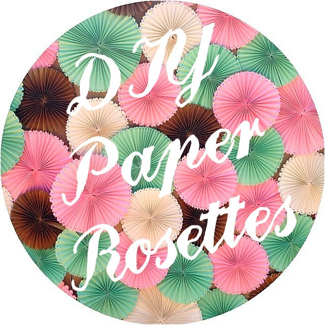 We recently made a backdrop covered in paper rosettes for an event, and I thought I'd share how we made them!