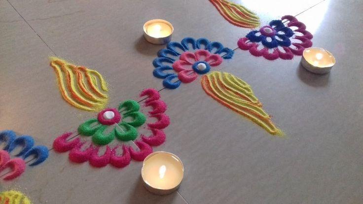 Simple and Easy border rangoli designs || Deepam rangoli designs