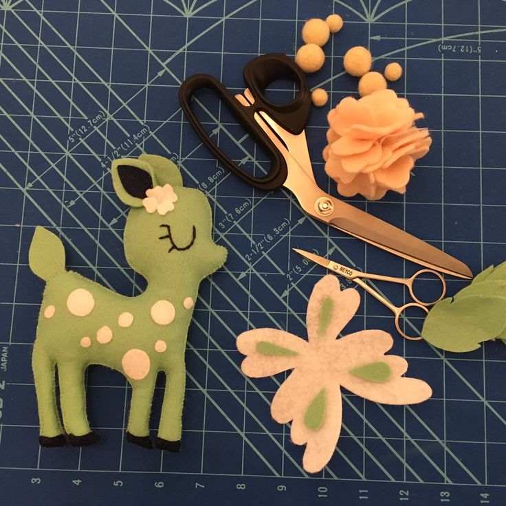 Working on details for this bambi crib mobile.