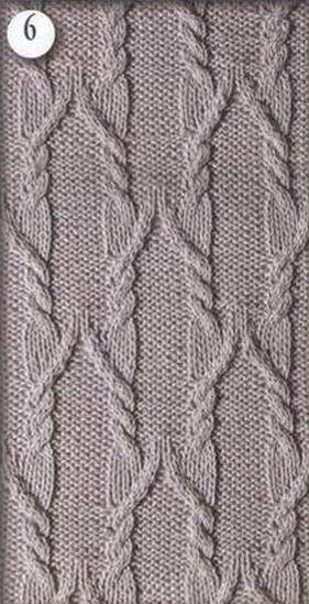 Aran knitting pattern 6