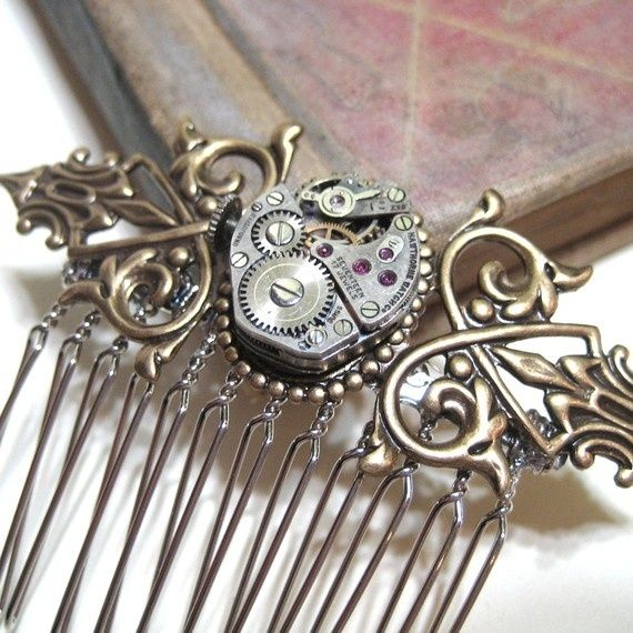I like this steam punk inspired version. Ok, I really really have to make something like this!!! cmm