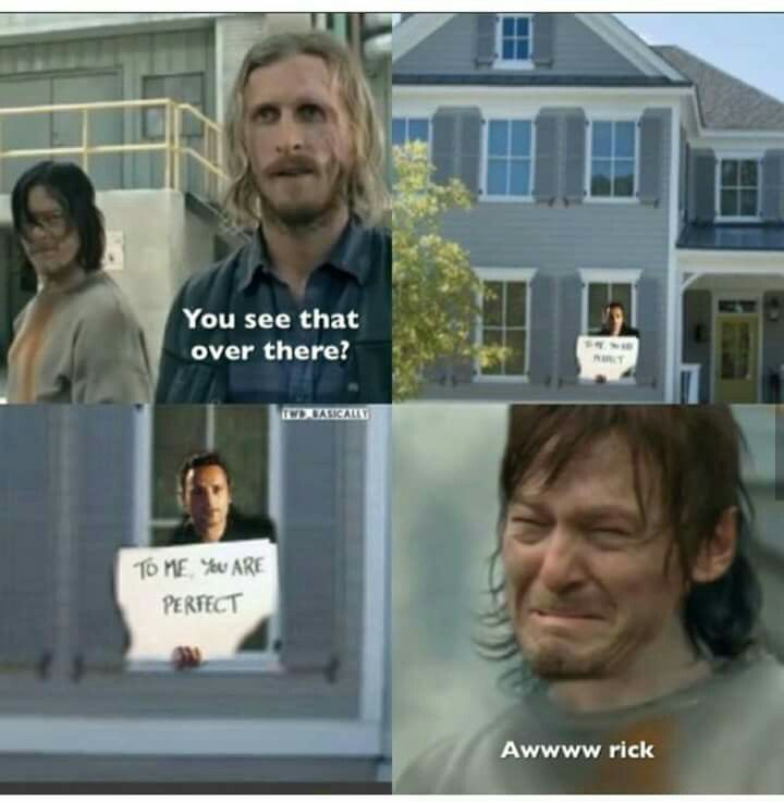 """Another """"To me you are perfect"""" Rick and Daryl gem"""