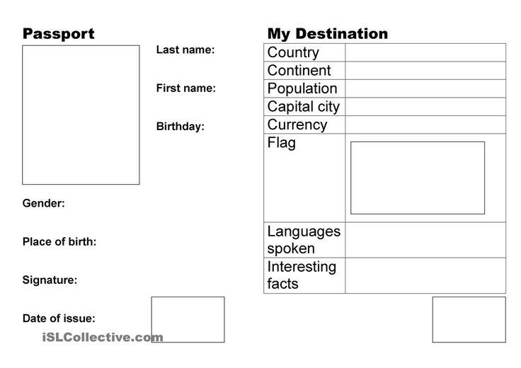 Passport academic ideas pinterest worksheets for Fun passport template