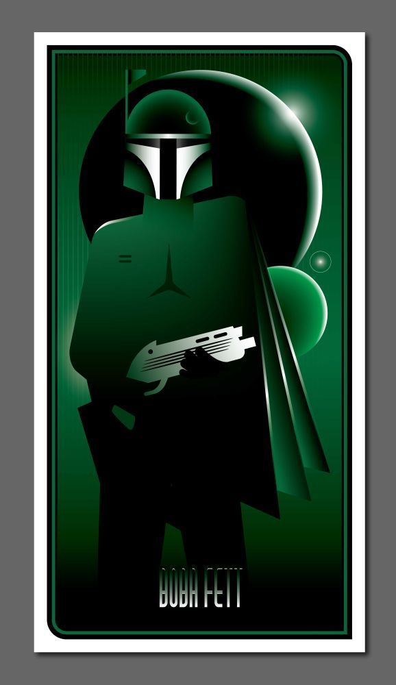 If I had to have a Boba Fett poster in the house, I'd choose this one. Love the Art Deco take on this...