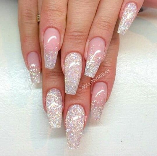 Best 25 White Glitter Nails Ideas On Pinterest Glitter
