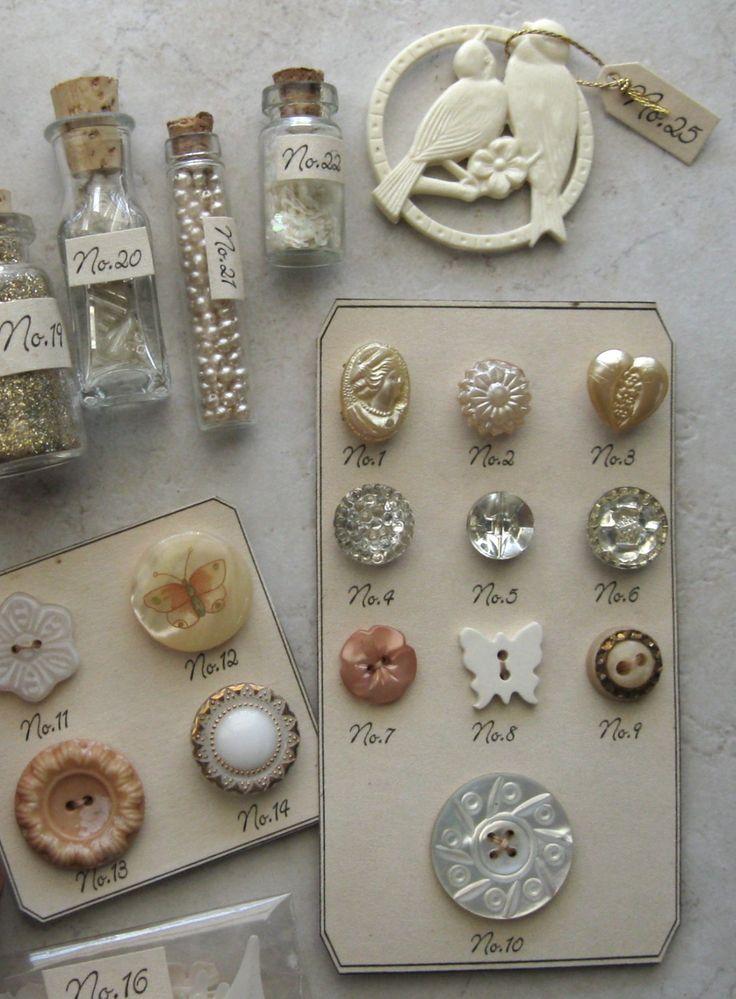 Botones y otras cositas vintage  ◈ ❀ ◈ ❀ ◈
